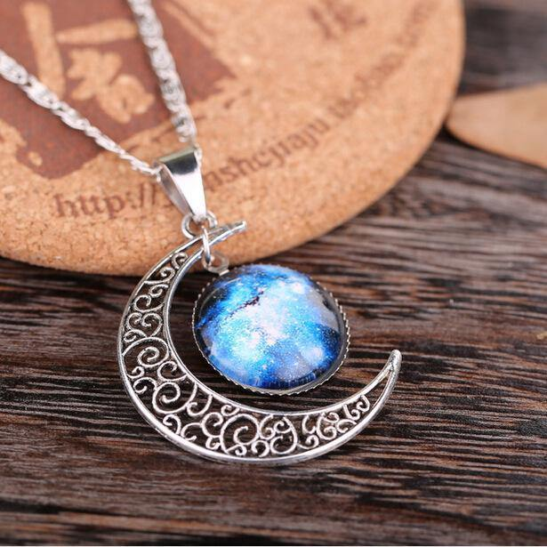 Crescent Galaxy Necklace - Imoost