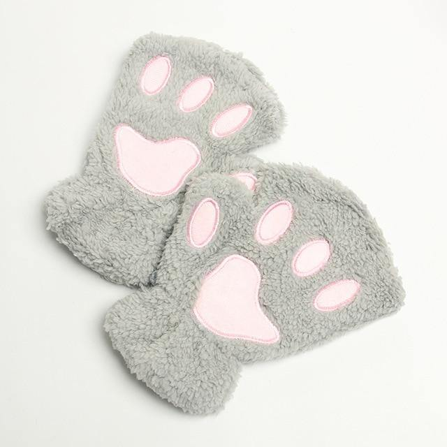 Fluffy Animal Paw Gloves - Imoost