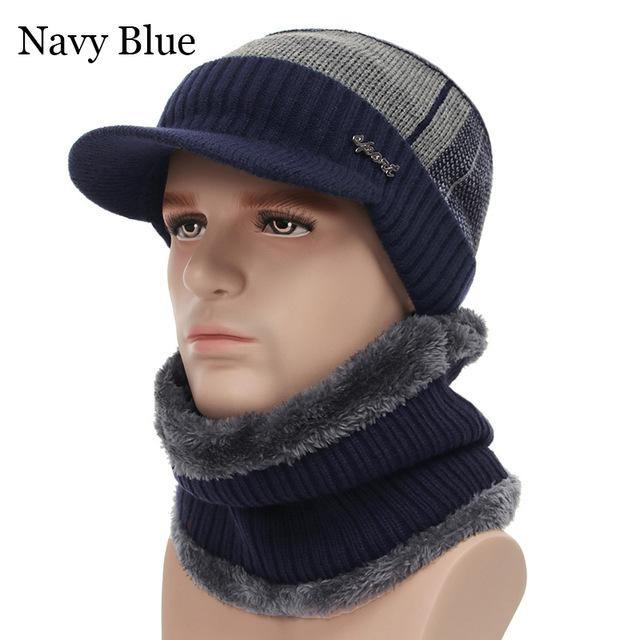 Multi-Function Beanie Hat and Scarf Set for Men - Imoost