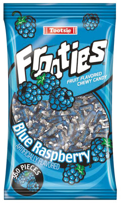 Mini Blue Raspberry Tootsie Rolls (360 cnt)