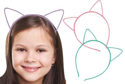 Kitty Cat Headband 6.5""