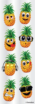 "Sticker Sht 6""x2"" Pineapple"
