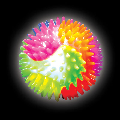 Light-up Rainbow Spiky Ball 3.75""