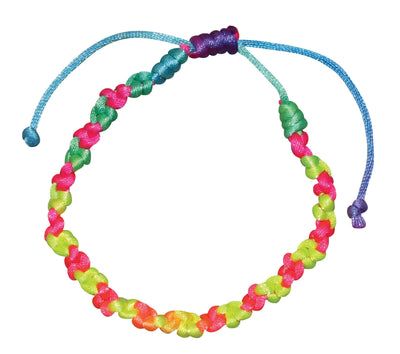 Neon Braided Flower Bracelet