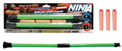 Ninja Blow Gun w/ 3 Foam Darts 23""