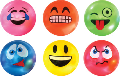 Funny Face Vinyl Ball (6 Asst.) 12""