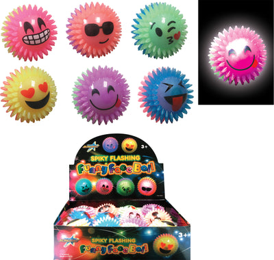 Light Flashing Funny Face Ball 2.5""