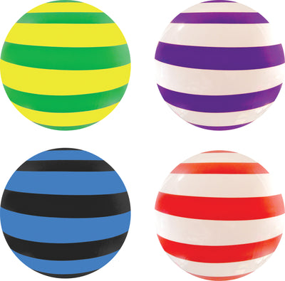 "Color Vinyl Ball - Striped  15"" *Closeout Special*"