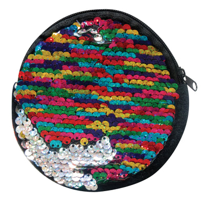 2 Tone Rainbow Sequin Purse 5""