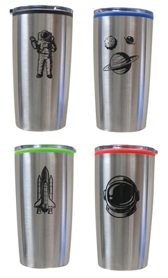 Space Double Wall Color Lid Tumblers (4 Asst.) 20 o