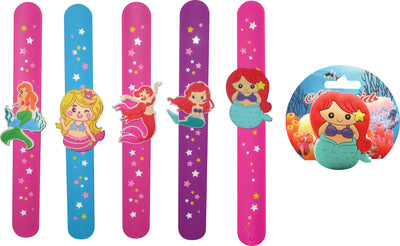 Mermaid Slap Bracelet (Assorted Styles) 8.5""