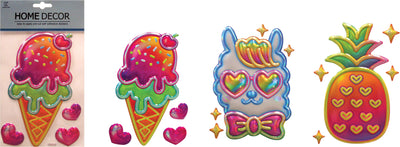 Metallic Fun 3D Stickers (3 Asst.) 8""