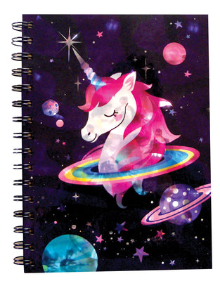 Metallic Unicorn Spiral Notebook 8.25""