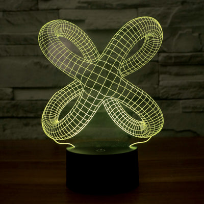 3D Color  Light - Infinity Knot 8""