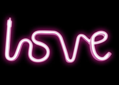 LED Neon Hanging Rope Lamp - Love 11.5""