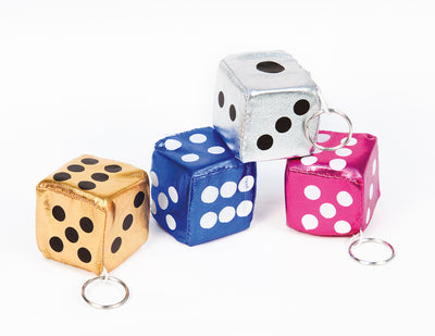 "2"" Satin Dice Keychain"
