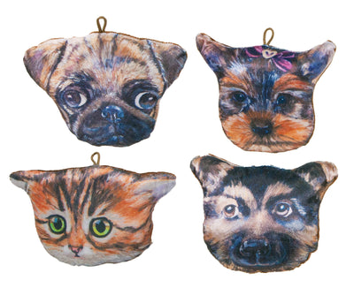 "8"" Cat & Dog Pillows (4 Asst)"