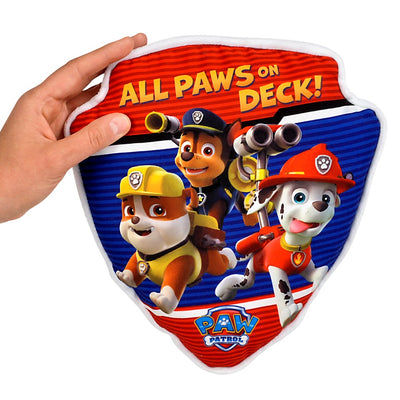 "11"" Paw Patrol Badge Pillow"