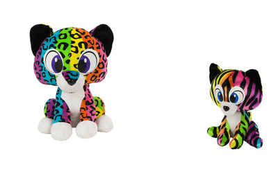"7"" Rainbow Tiger & Cheetah"