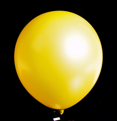 "12""  Balloons - Metallic Yellow"