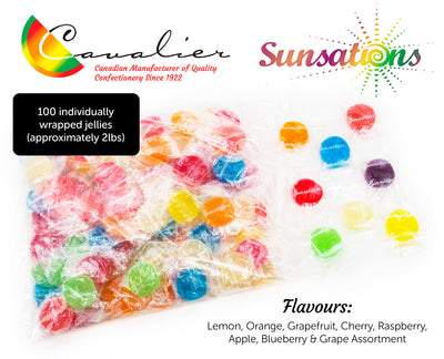 Sunsations Fruit Jellies (100pc/Bag)