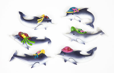Dolphins with Hats Magnets *Closeout Special*