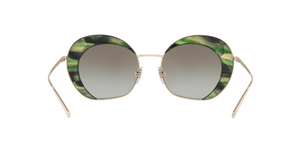 Giorgio Armani AR6067 30138E PALE GOLD/STRIPED GREEN Size 50