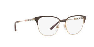 Burberry BE1313Q 1239 BROWN/LIGHT GOLD Size 53