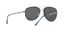 Burberry BE3090Q 100887 BRUSHED GUNMETAL/BLUE HAVANA Size 58
