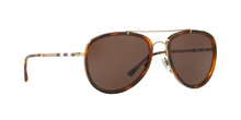 Burberry BE3090Q 116773 BRUSHED LT GOLD/LT HAVANA Size 58