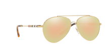 Burberry BE3092Q 11674Z BRUSHED LIGHT GOLD Size 57
