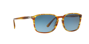 Persol PO3158S 1050Q8 STRIPPED BROWN YELLOW Size 56