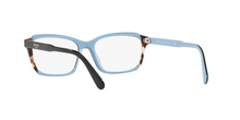 Prada PR 01VVF HERITAGE KHR1O1 TOP BLACK/AZURE/SPOTTED BROWN Size 55