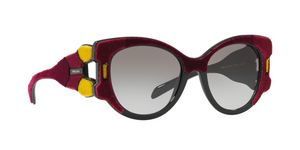 Prada PR 10US I7Y0A7 BORDEAUX/YELLOW/BROWN Size 54