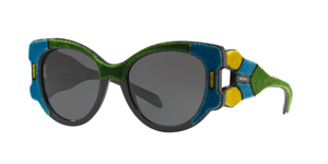 Prada PR 10US I8A5S0 AZURE/YELLOW/GREEN Size 54