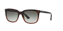 Prada PR 12RS JOURNAL TWC0A7 RED HAVANA GRADIENT Size 56