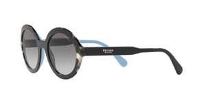 Prada PR 17USF HERITAGE KHR0A7 TOP BLACK AZURE/SPOTTED BROWN Size 53