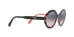 Prada PR 17US HERITAGE 5ZWGR0 TOP BLACK PINK/MEDIUM HAVANA Size 53