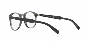 Prada PR 19SV USD1O1 MATTE STRIPED GREY Size 48