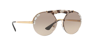 Prada PR 52US C3O3D0 GOLD/OPAL SPOTTED BROWN Size 37