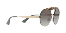 Prada PR 52US SZ60A7 PALE GOLD/MEDIUM HAVANA/GREEN Size 37