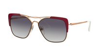 Prada PR 54VS CONCEPTUAL 400409 ROSE GOLD/BORDEAUX Size 58