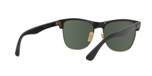 Ray Ban RB4175 CLUBMASTER OVERSIZED 877 DEMI SHINY BLACK/ARISTA Size 57