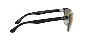 Ray Ban RB4181 6039W0 TOP BLACK ON TRANSPARENT Size 57