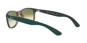 Ray Ban RB4202 ANDY 63688E GRAD GREEN ON LT BROWN RUBBER Size 55