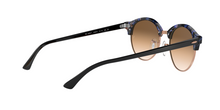 Ray Ban RB4246F CLUBROUND 125651 SPOTTED BROWN/BLUE Size 53