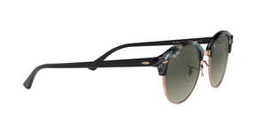 Ray Ban RB4246 CLUBROUND 125571 SPOTTED GREY/GREEN Size 51