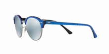 Ray Ban RB4246 CLUBROUND 984/30 TOP WRINKLED BLU ON BLACK Size 51