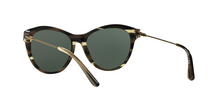 Tory Burch TY7093 15536R OLIVE HORN/VINTAGE GOLD Size 56