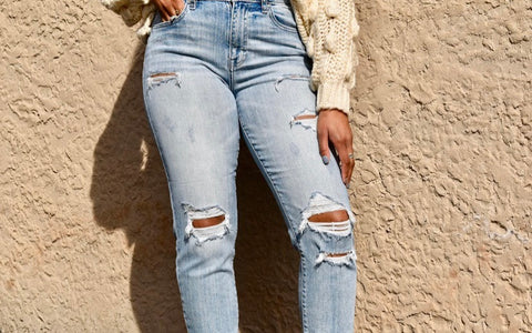 Tobi Distressed Denim